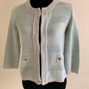 💯 % Cotton Mint Green CAbi Cardigan Sweater